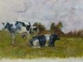 Dieren - Koeien II 50 x 65 gouache (alu lijst)