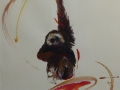 Gibbon - aquarel - 65 x 50 - NTK