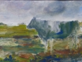 Koe - 40 x 50 ipp aquarel