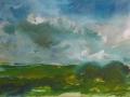 Landschap 50 x 60 ipp gouache