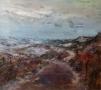 Landschap III - duinen 70 x 80 olie