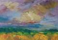 Landschap - Zomer 50 x 60 ipp gouache