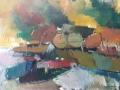 Boten II 100 x 140 cm Acryl op doek