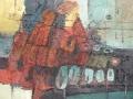 Materie schilderij op doek Verschillende technieken 90 x 120 cm