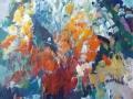 Bloemen I - acryl op doek 100x75 cm