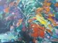 Bloemen II - acryl op doek 95x75 cm