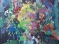 Bloemen III - acryl op doek 70x60 cm