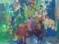 Bloemen IV - acryl op doek 95x75 cm