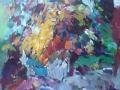 Bloemen V - acryl op doek 95x80 cm