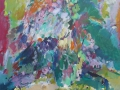 Bloemen VI - acryl op doek - 80 X 70 cm