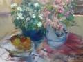 Bloemen 50 x 60 olie