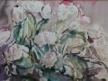 Bloemen I 50 x 70 ipp gouache (alu lijst)