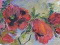 Bloemen - Papavers 50 x 65 ipp gouache