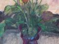 Bloemen - Rozen in vaas 60 x 50 ipp gouache