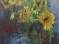 Bloemen - Zonnebloemen I 70 x 60 (alu lijst)