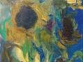 Bloemen - Zonnebloemen II 40 x 30 olie (alu lijst)