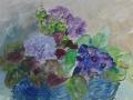 Bloemen - gouache - 65 x 50