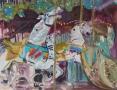 Diverse - Carrousel 50 x 60 ipp gouache