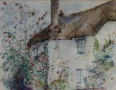 Landschap - English cottage 40 x 50 ipp aquarel NTK