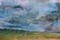 Landschap III - 50 x 60 gouache (alu lijst)