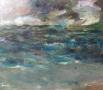 Landschap V - Water & lucht III 60 x 70 olie (metalen lijst)