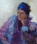 Portret Lies Lobatto 70 x 60 olie