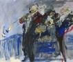 Blaasorkest 50 x 60 ipp gouache