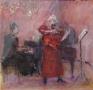 Carmen Fantasie 40 x 40 gouache (houten lijst)