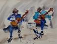 Gitaristen 40 x 50 ipp aquarel