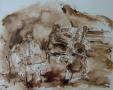 Trio 50 x 60 ipp gewassen tekening (houten lijst)