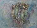 Vissen I 30 x 40 olie (houten lijst)