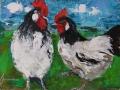 Kippen 50 x 60 ipp gouache - NTK